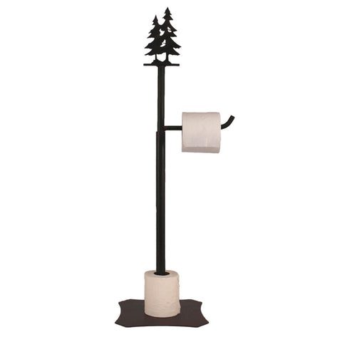 Iron Pine Tree Toilet Paper Stand