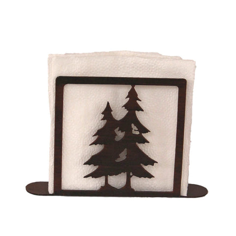 Iron Double Pine Tree Napkin Holder