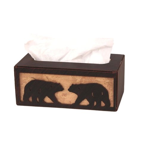 Iron Bear Rectangular Tissue Box