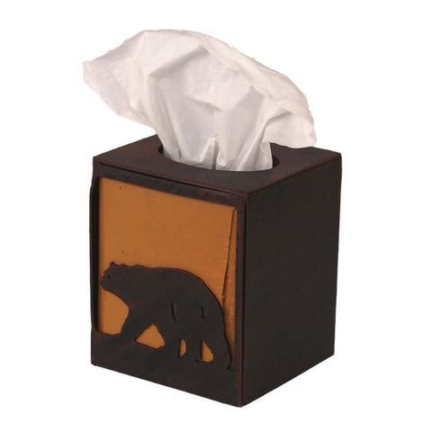 Iron Bear Square Tissue Box
