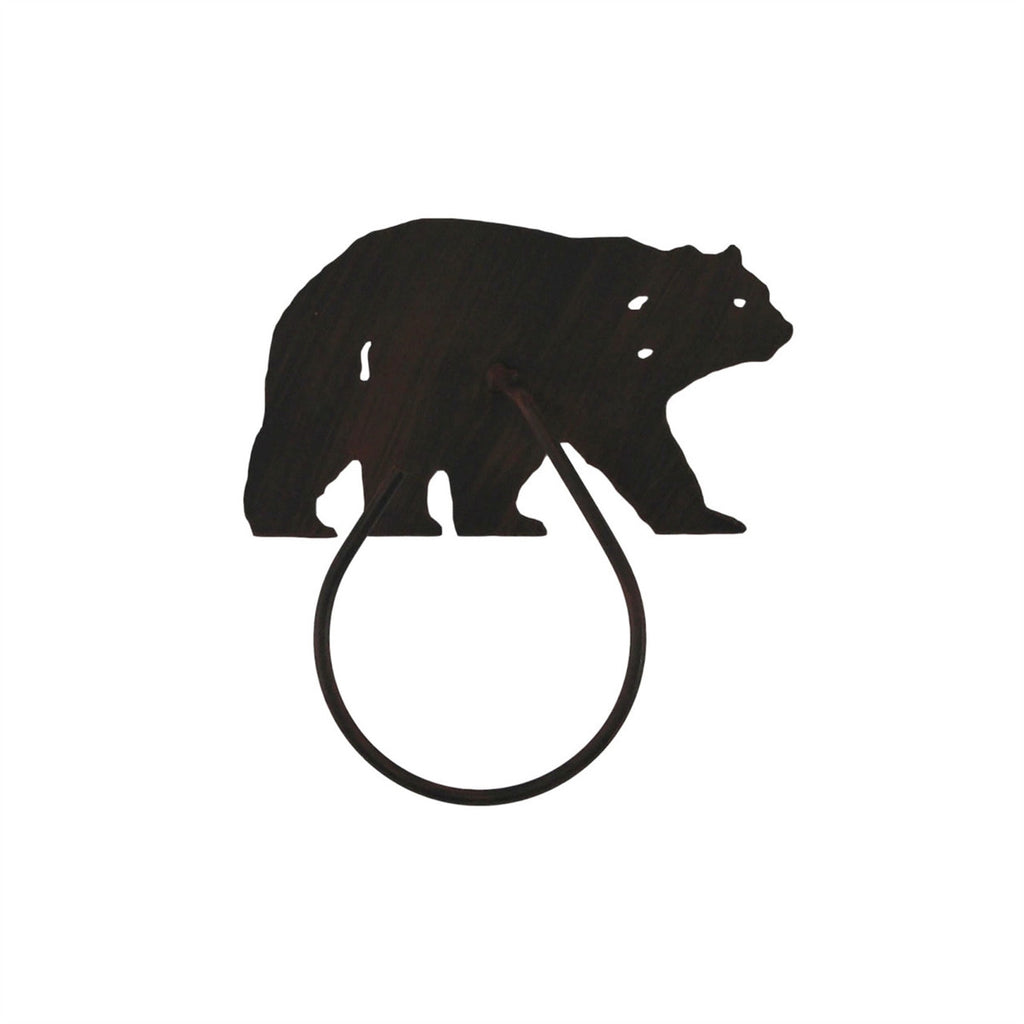 Iron Bear Towel Ring
