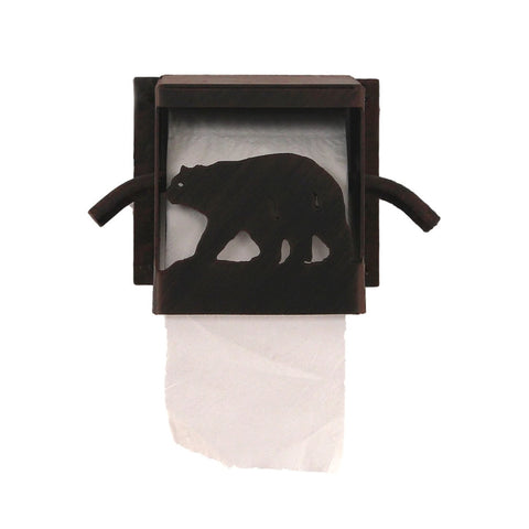 Iron Bear Box Toilet Paper Holder
