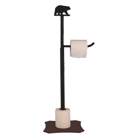 Iron Bear Toilet Paper Stand