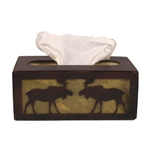 Iron Moose Rectangular Tissue Box