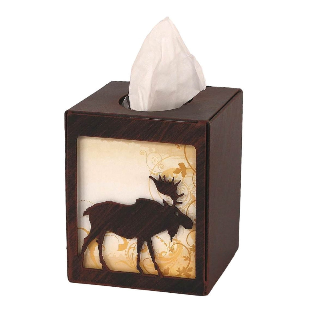 Iron Moose Square Tissue Box