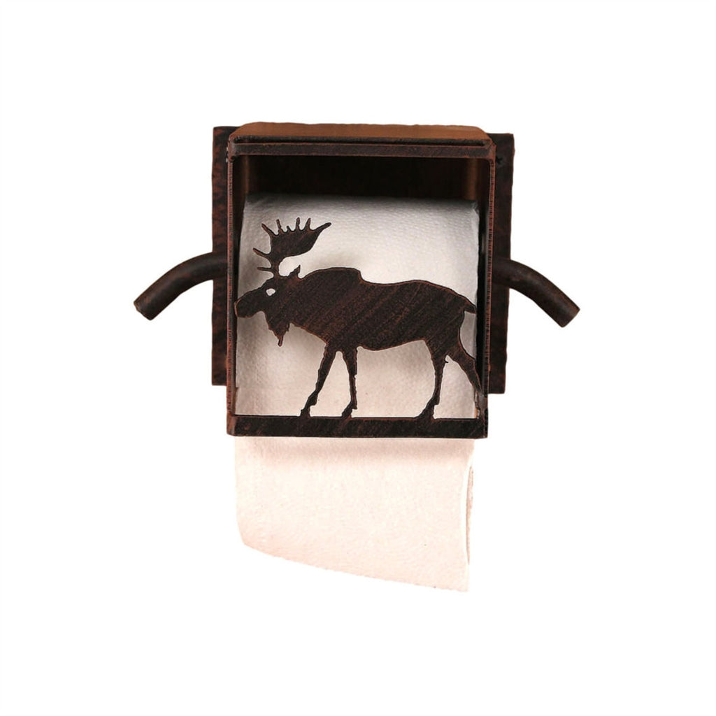 Iron Moose Box Toilet Paper Holder