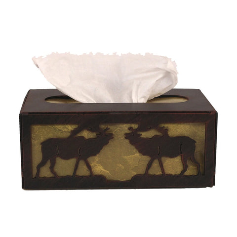 Iron Elk Rectangular Tissue Box