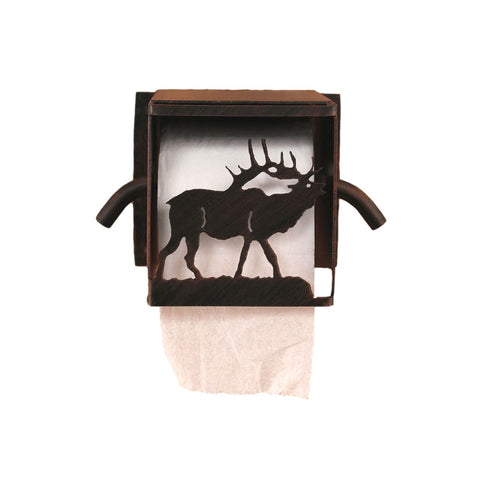 Iron Elk Box Toilet Paper Holder