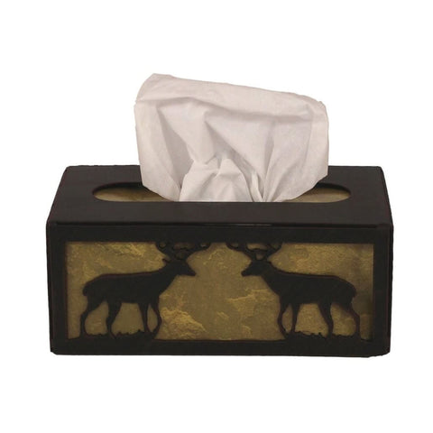 Iron Deer Rectangular Tissue Box