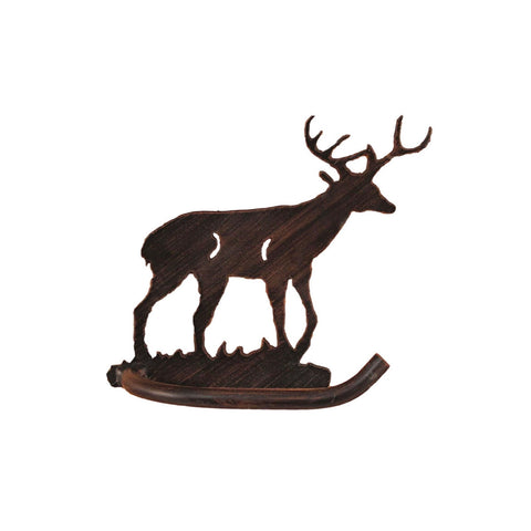 Iron Deer Toilet Paper Holder