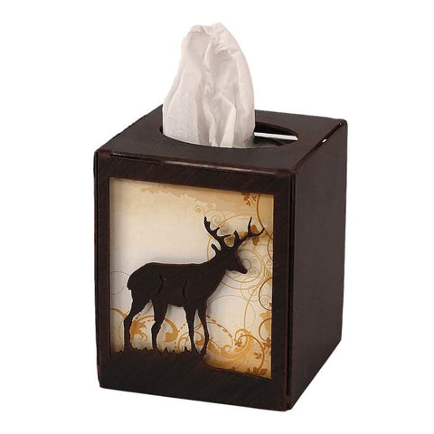 Iron Deer Square Tissue Box