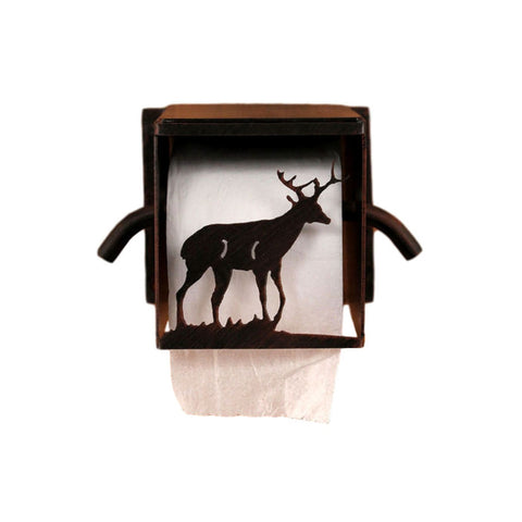 Iron Deer Box Toilet Paper Holder