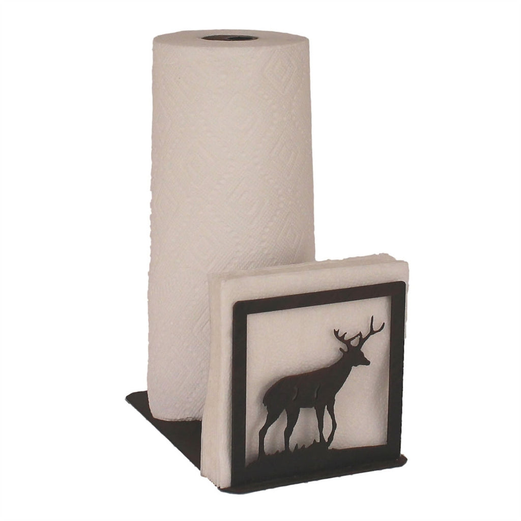Iron Deer Paper Towel/Napkin Holder
