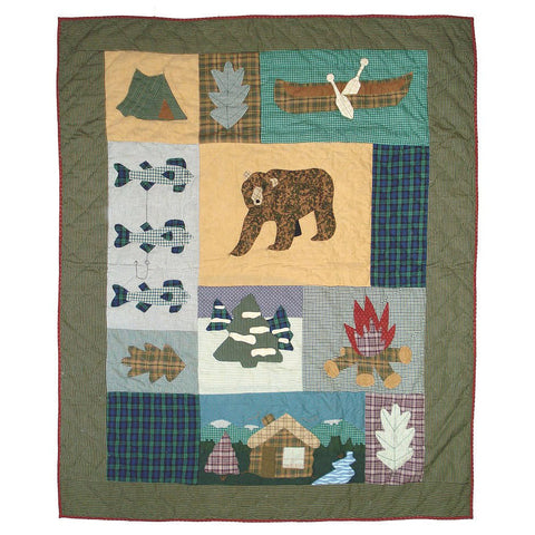 Cabin Quilted Throw