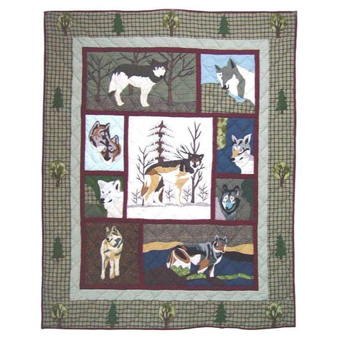 Call of the Wild Quilted Throw