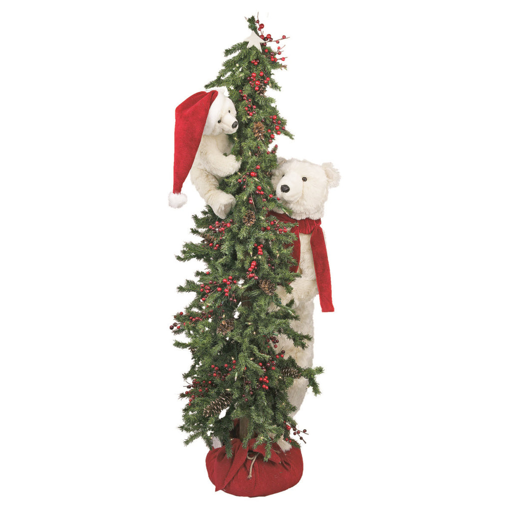 Peek A Boo Polar Bear Christmas Tree 72""