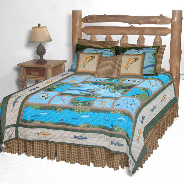 Fly Fishing Quilt Bedding Collection