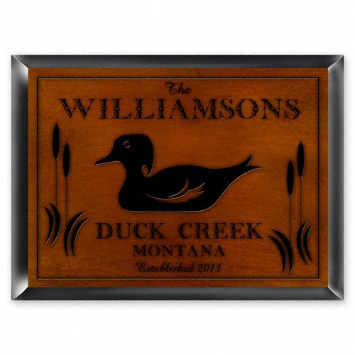 Personalized Traditional Cabin Signs - Wood Duck