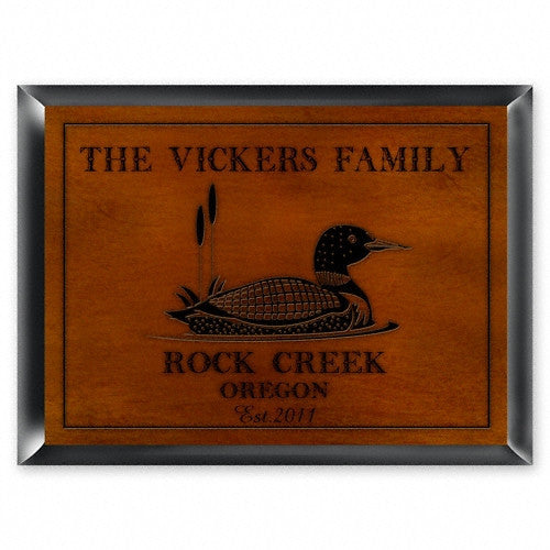 Personalized Traditional Cabin Signs - Loon