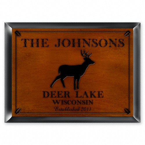 Personalized Traditional Cabin Signs - Stag