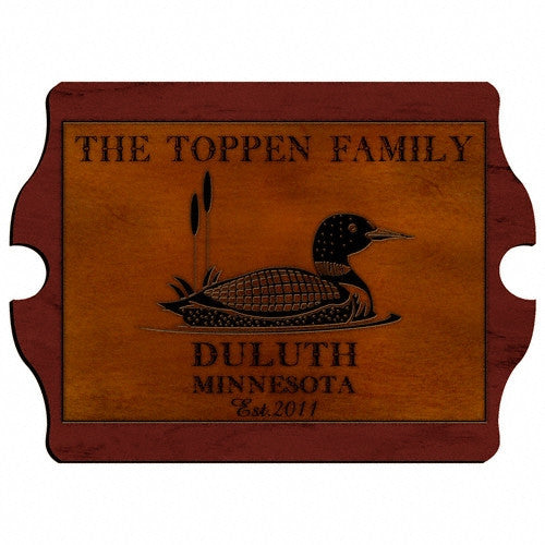 Personalized Vintage Cabin Signs - Loon