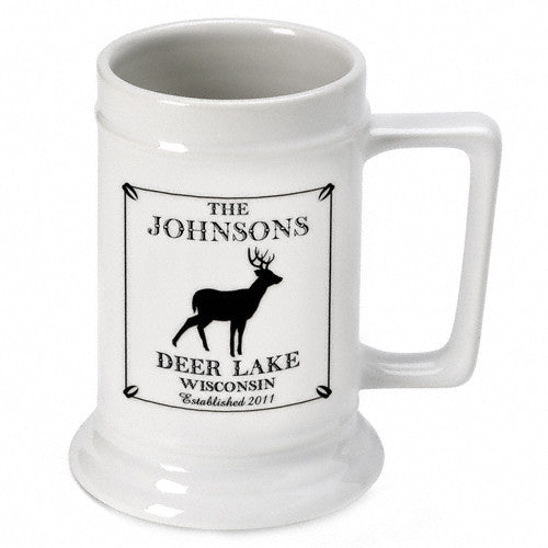 Personalized Cabin Beer Stein - Stag
