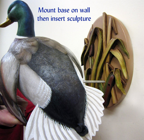 Flying Mallard Wall Mount Waterfowl Sculpture How To