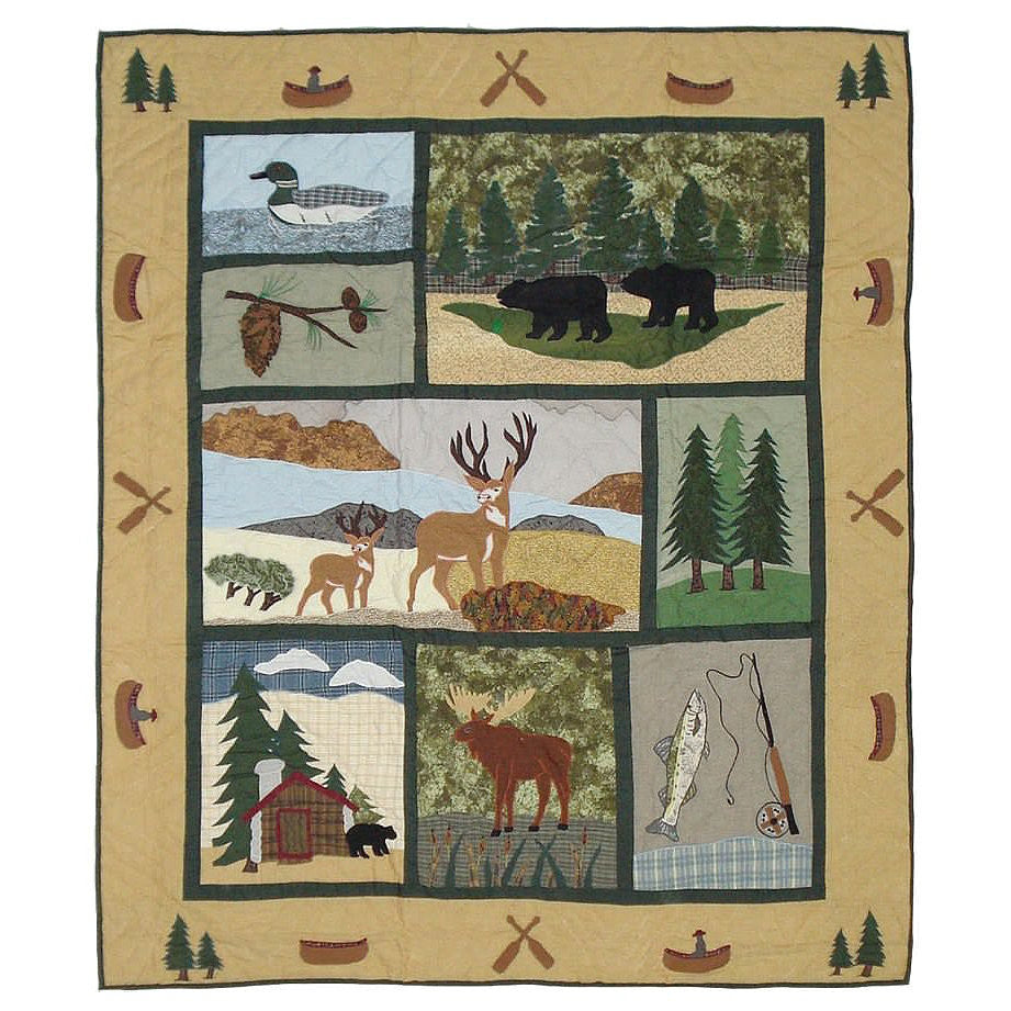 Lodge Fever Quilted Throw