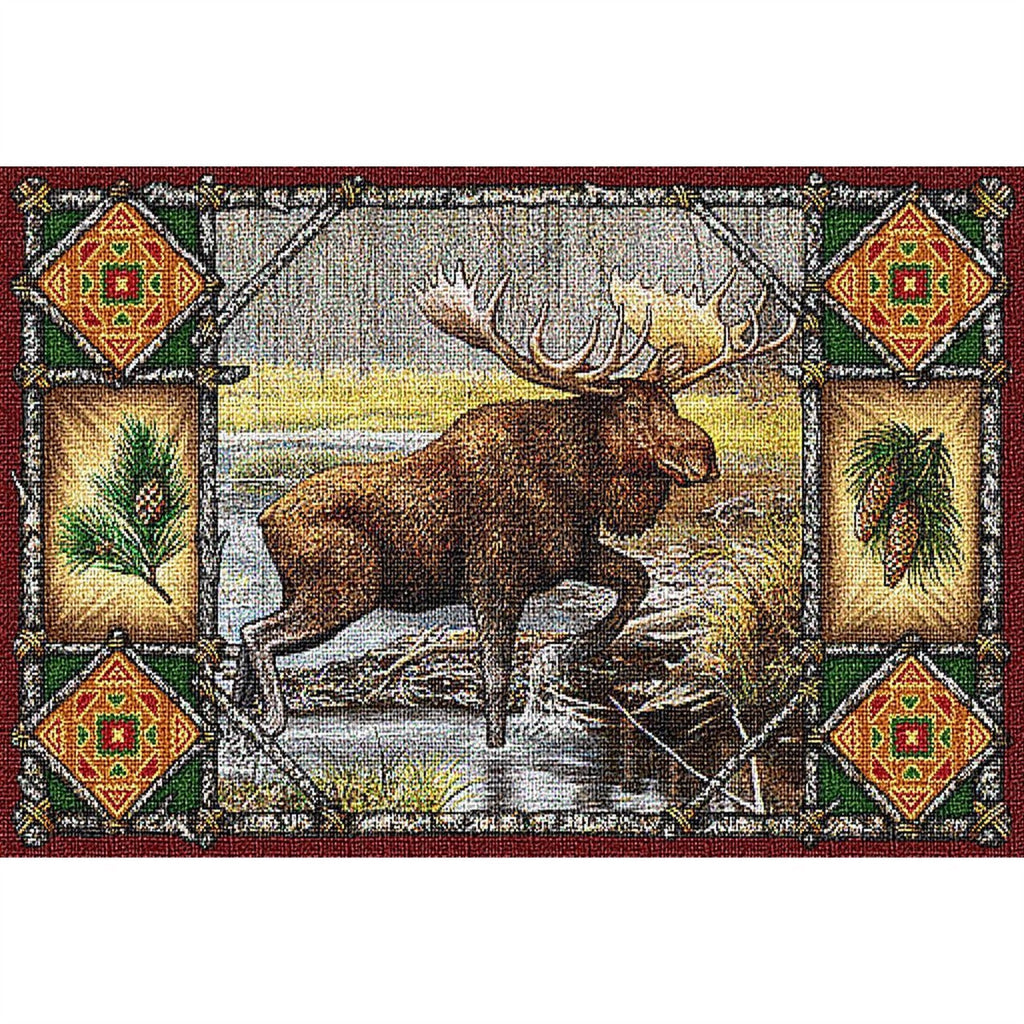 Moose Lodge Tapestry Placemat Set