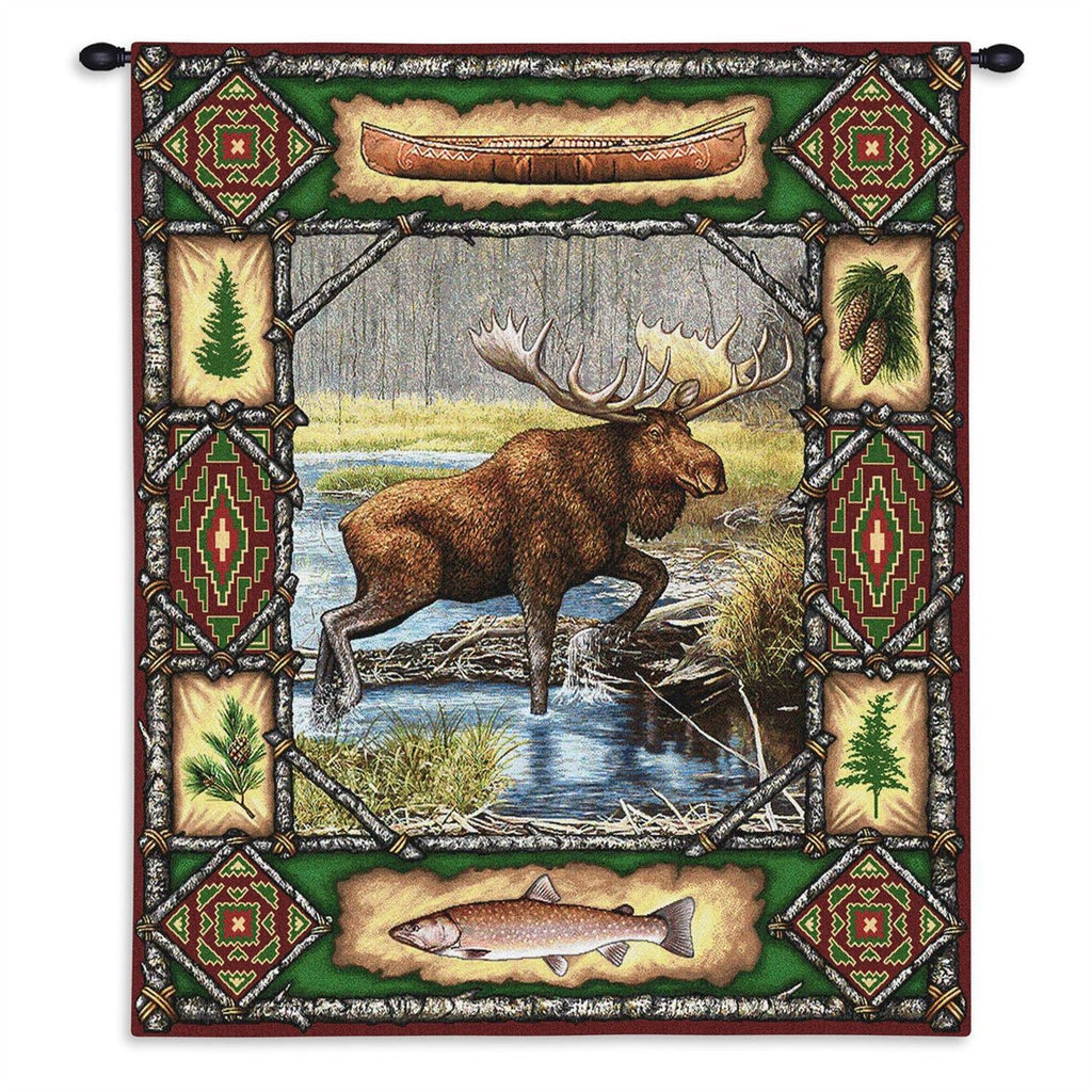 Moose Lodge Tapestry Wall Hanging