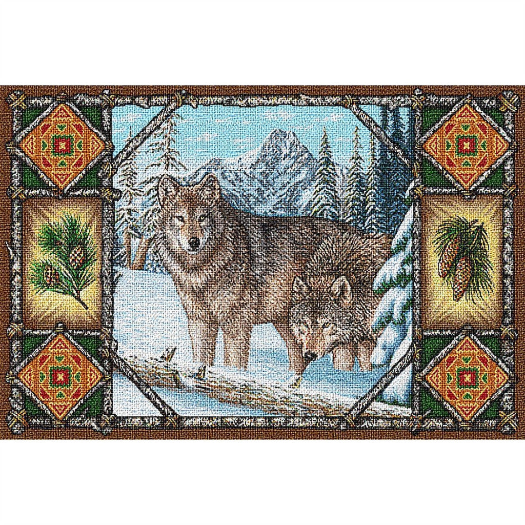 Wolf Lodge Tapestry Placemat Set