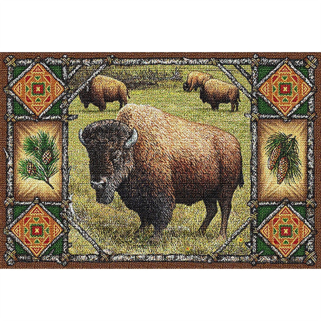 Buffalo Lodge Tapestry Placemat Set