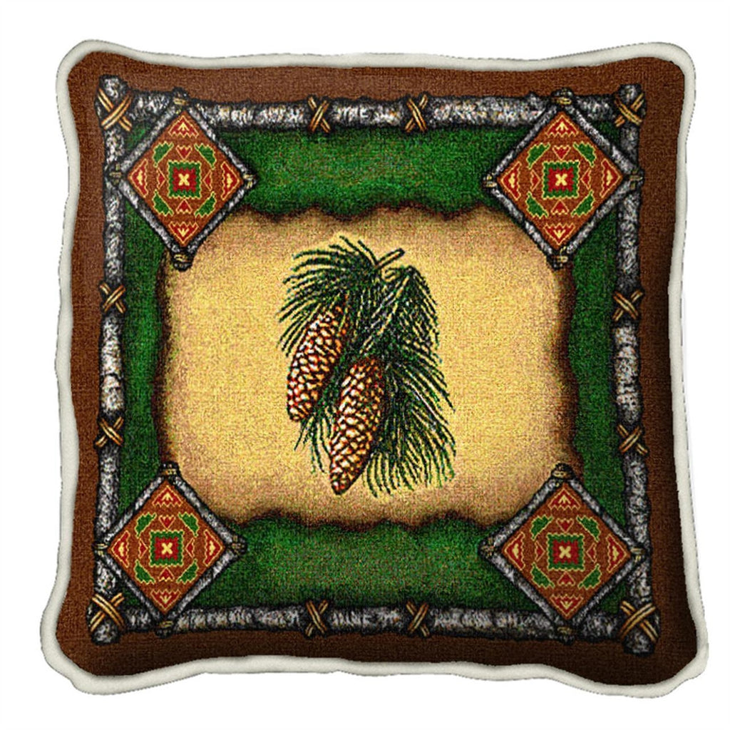 Pinecone Lodge Tapestry Pillow