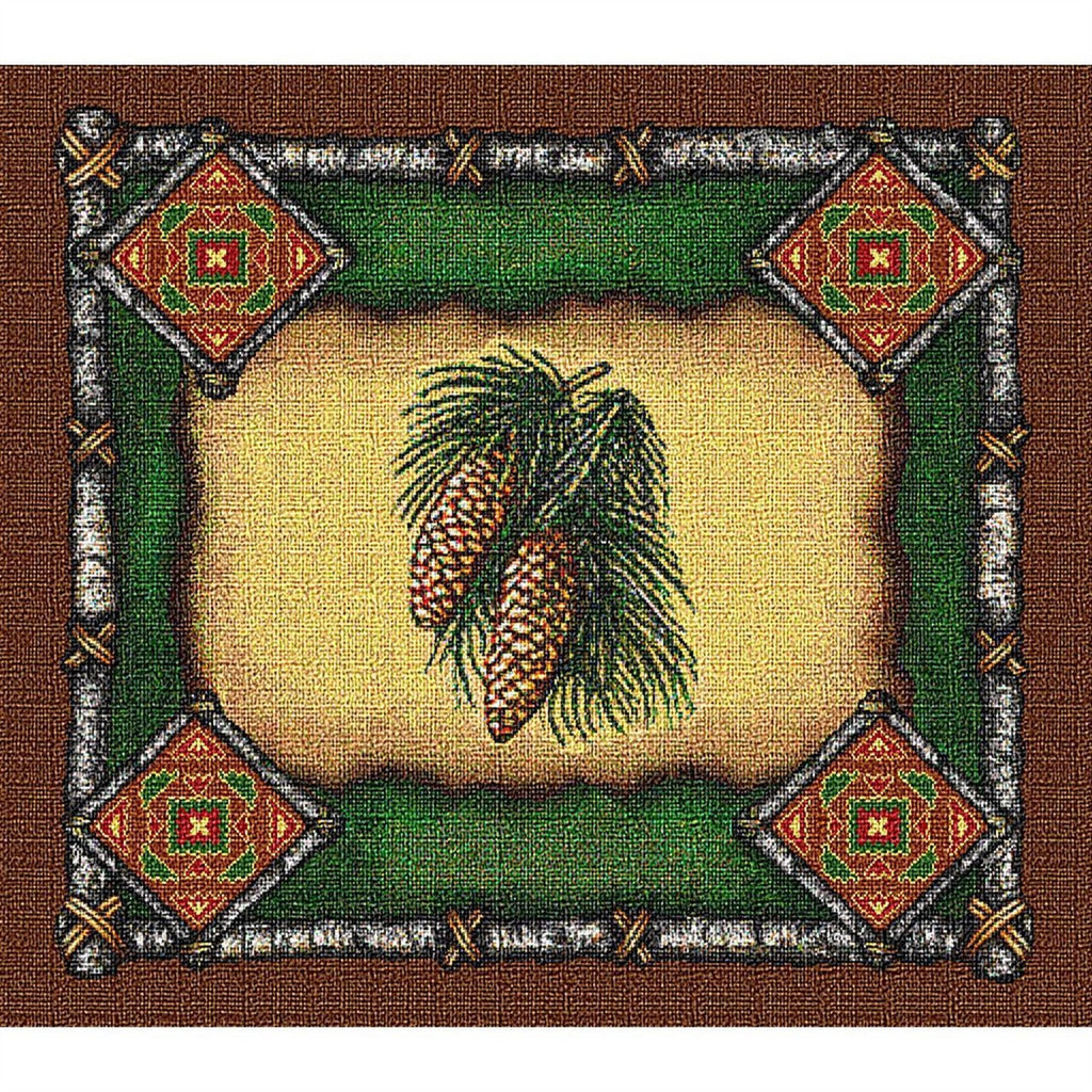 Pinecone Lodge Tapestry Placemat Set
