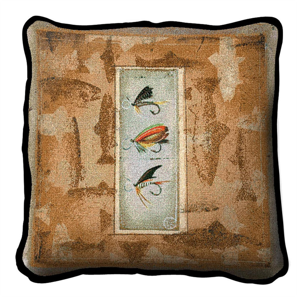 Anglers Lure Tapestry Pillow