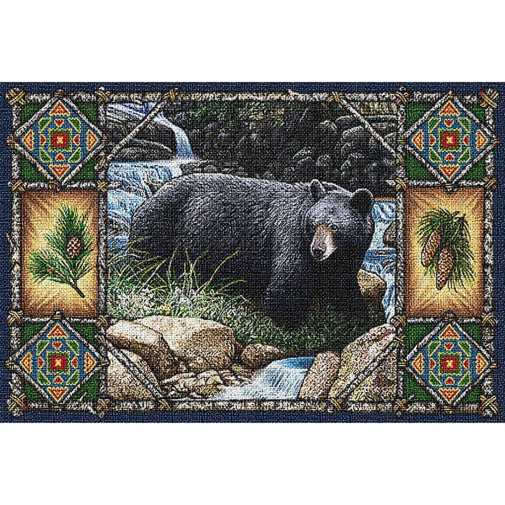 Bear Lodge Tapestry Placemat Set