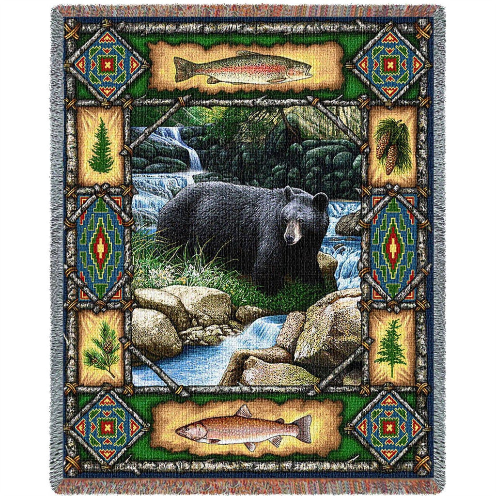Bear Lodge Tapestry Throw Blanket
