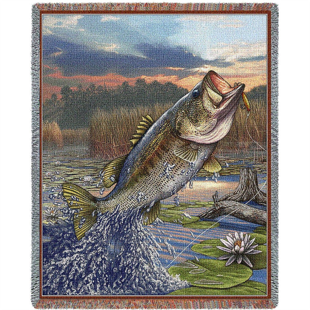 First Strike Bass Tapestry Throw Blanket
