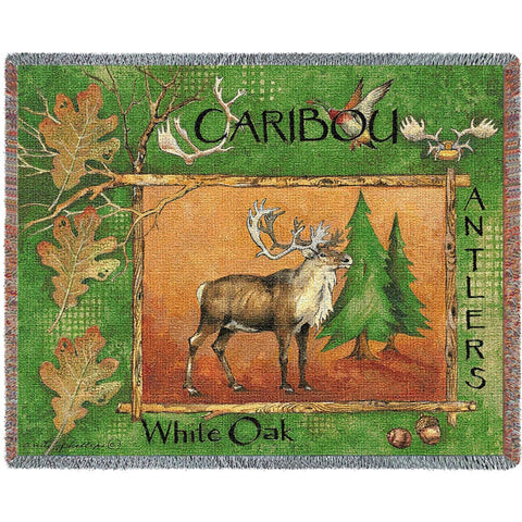 Caribou Tapestry Throw Blanket