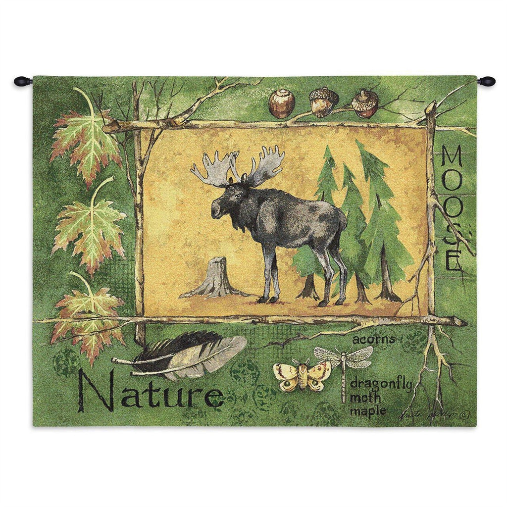 Nature Moose Tapestry Wall Hanging