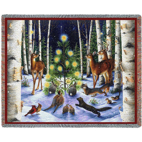 A Simple Tree Christmas Tapestry Throw Blanket