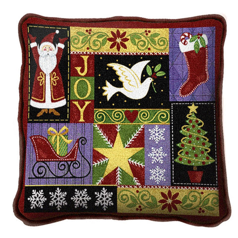 Christmas Icons Tapestry Pillow