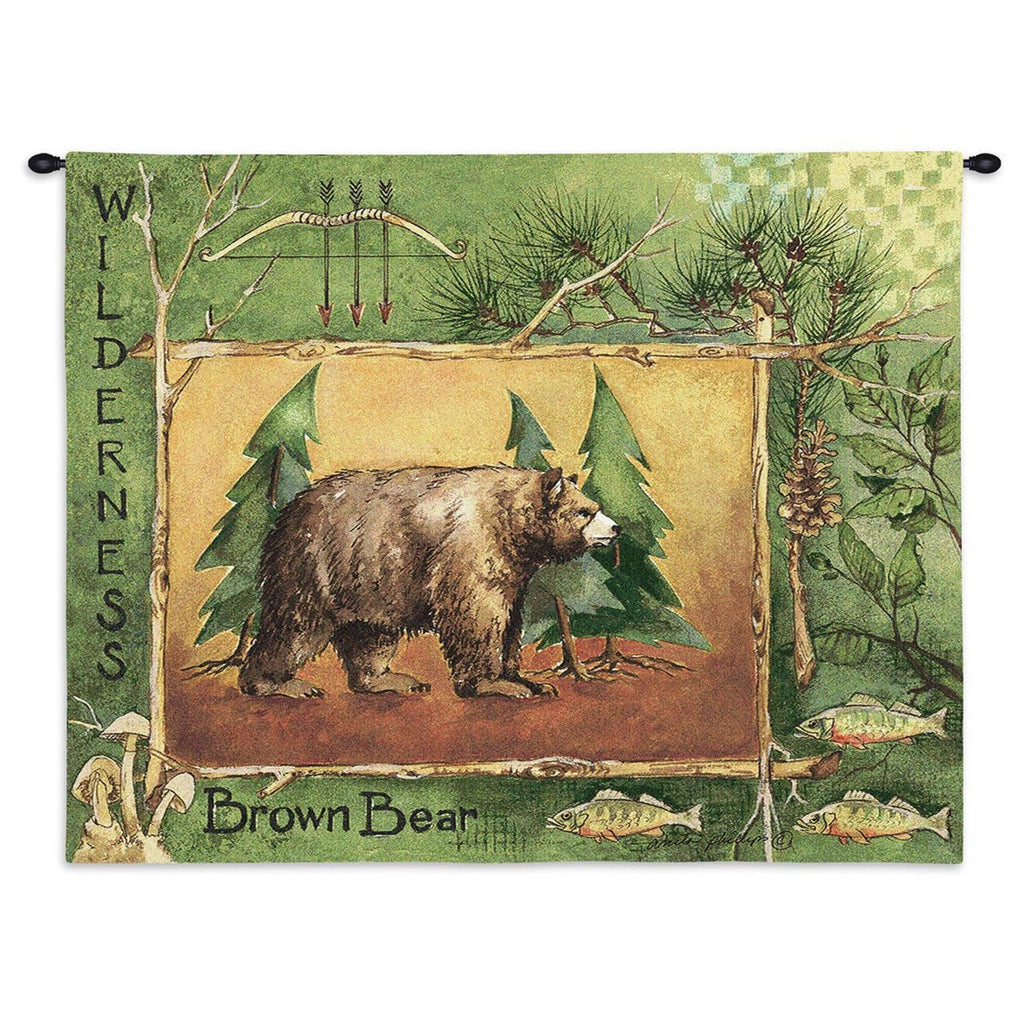Brown Bear Tapestry Wall Hanging