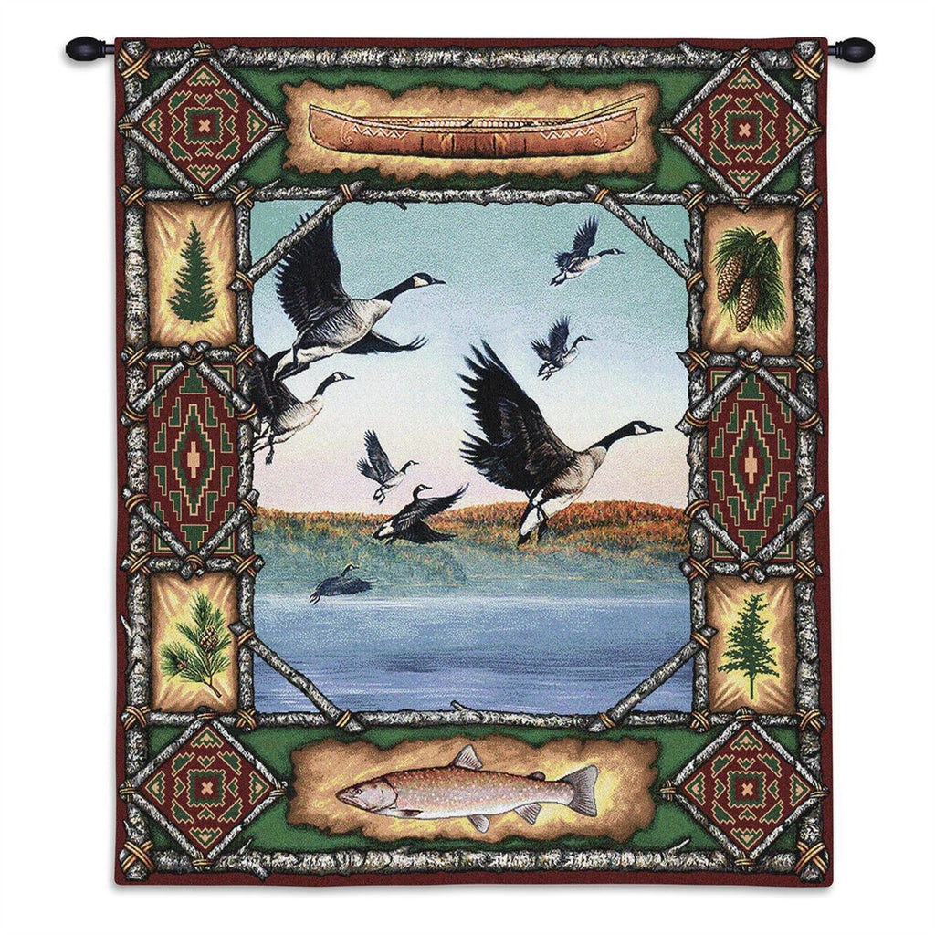 Geese Lodge Tapestry Wall Hanging