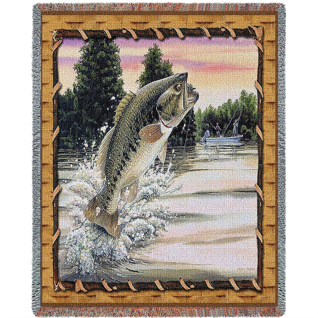 Bass Attack Tapestry Throw Blanket