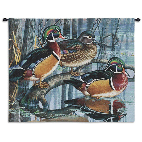 Backwater Woodies Wood Duck Tapestry Wall Hanging