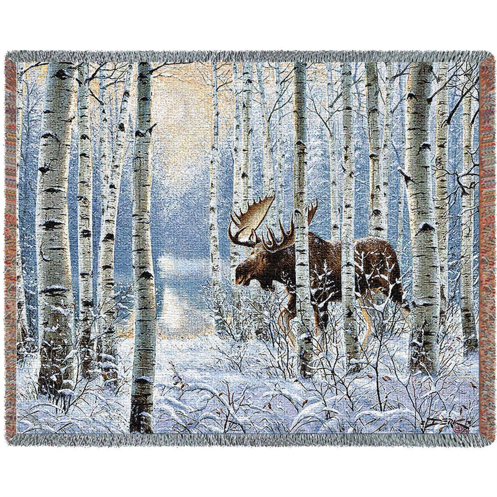 On The Move Moose Tapestry Throw Blanket