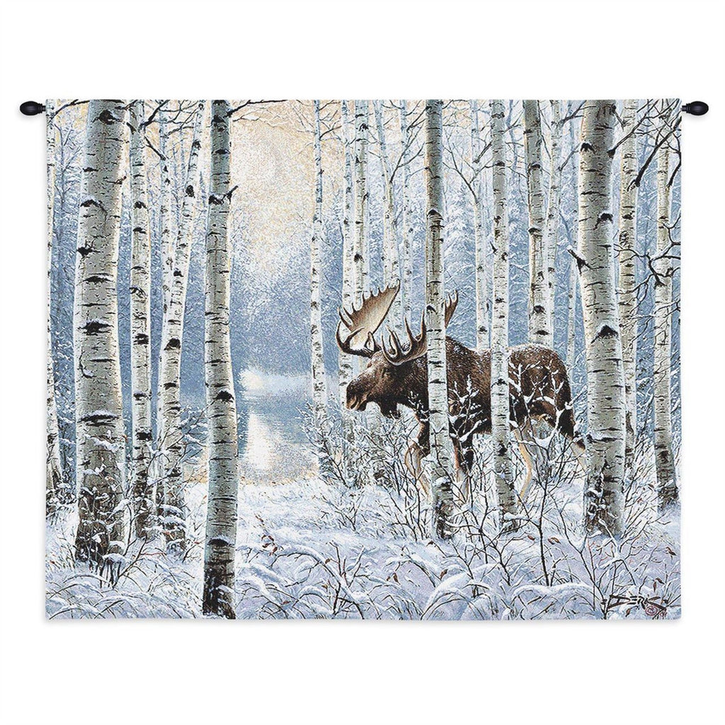 On The Move Moose Tapestry Wall Hanging