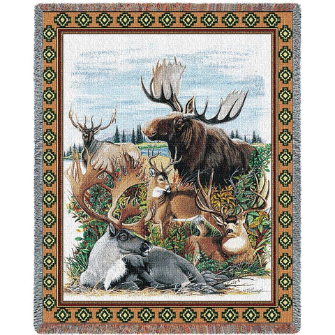 Antler Animals Tapestry Throw Blanket