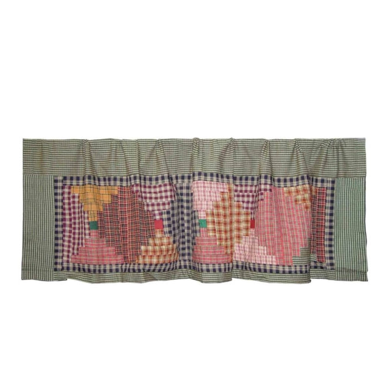 Harvest Log Cabin Curtain Valance